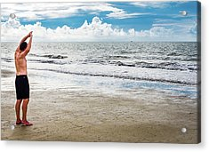 Morning Beach Workout Acrylic Print