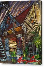 Acrylic Print featuring the painting Morning Before The Storm by Amzie Adams