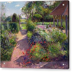 Morning Break In The Garden Acrylic Print by Timothy Easton