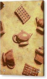 Morning Breakfast Chocolate Tea Set  Acrylic Print