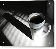 Acrylic Print featuring the photograph Morning Coffee by Lindie Racz