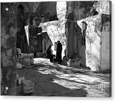 Morning Conversation In Bw Acrylic Print