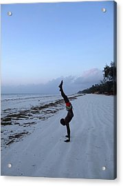 Morning Exercise On The Beach Acrylic Print