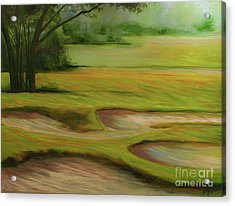 Morning Fairway Acrylic Print by Michele Hollister - for Nancy Asbell