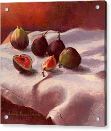 Morning Figs Acrylic Print by Jeanne Rosier Smith
