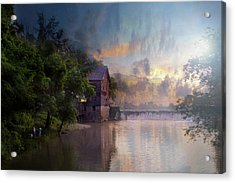 Acrylic Print featuring the photograph Morning Fishing  by Joel Witmeyer
