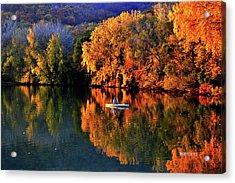 Morning Fishing On Lake Winona Acrylic Print