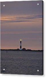 Morning Flash Of Fire Island Light Acrylic Print