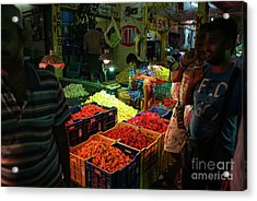 Acrylic Print featuring the photograph Morning Flower Market Colors by Mike Reid