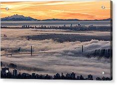 Morning Fog Acrylic Print by DGS Full Spectrum Photography