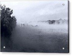Acrylic Print featuring the photograph Morning Fog - Hudson River by John Schneider