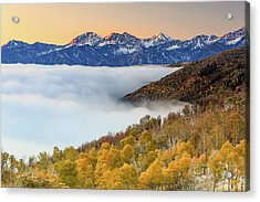 Acrylic Print featuring the photograph Morning Fog In The Southern Wasatch. by Johnny Adolphson