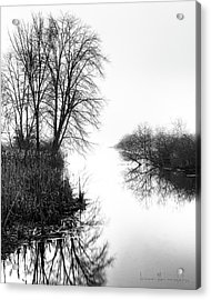 Morning Fog - Inlet, Lake Logan Acrylic Print