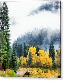 Morning Fog Montana Acrylic Print by Russ Harris