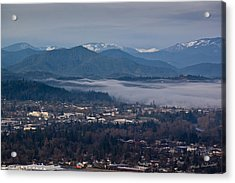 Morning Fog Over Grants Pass Acrylic Print