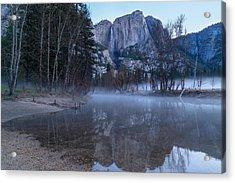 Morning Fog Yosemite Falls Acrylic Print