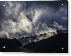 Morning Fog,mist And Cloud On The Moutain By The Sea In Californ Acrylic Print by Jingjits Photography