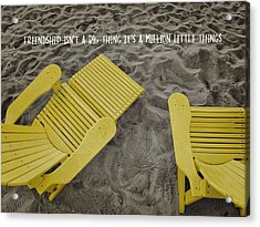 Morning Footsteps Quote Acrylic Print by JAMART Photography