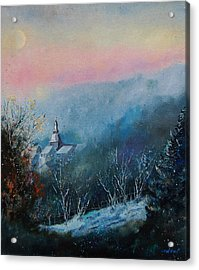 Morning Frost Acrylic Print by Pol Ledent