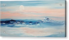 Morning Full Moon Acrylic Print