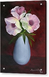 Morning Glories Acrylic Print by Maria Williams