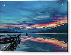 Acrylic Print featuring the photograph Morning Glory At Glacier National Park by Lon Dittrick