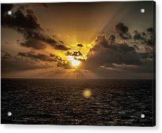 Morning Glory Acrylic Print by Judy Hall-Folde