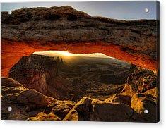 Morning Glow At Mesa Arch Acrylic Print