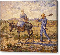 Morning Going Out To Work Acrylic Print by Vincent Van Gogh