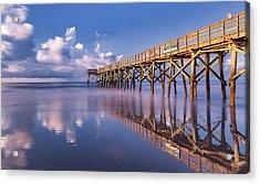 Morning Gold - Isle Of Palms, Sc Acrylic Print