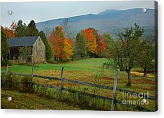 Morning Grove - New England Fall Monadnock Farm Acrylic Print by Jon Holiday