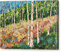 Acrylic Print featuring the painting Morning Grove by Chris Rice