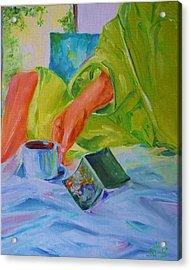 Morning Habit Acrylic Print by Irit Bourla