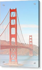 Morning Has Broken - Golden Gate Bridge San Francisco Acrylic Print