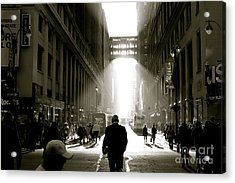 Morning In Manhattan Acrylic Print by Jerry Patterson