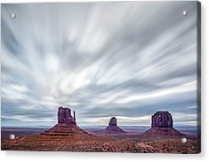 Acrylic Print featuring the photograph Morning In Monument Valley by Jon Glaser