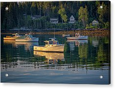 Acrylic Print featuring the photograph Morning In Tenants Harbor by Rick Berk