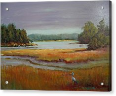 Morning In The Salt Marsh Acrylic Print by Bonita Waitl
