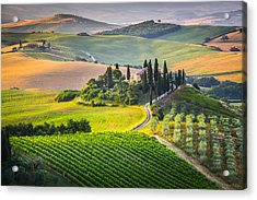 Morning In Tuscany Acrylic Print