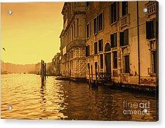 Morning In Venice Sepia Acrylic Print