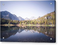 Morning Light At Heart Lake Acrylic Print by Alexander Kunz