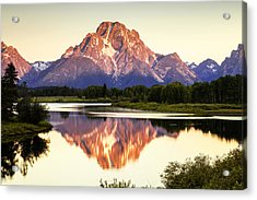 Morning Light At Oxbow Bend Acrylic Print
