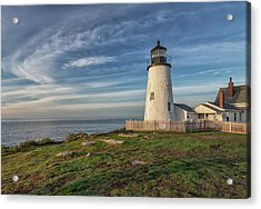 Morning Light At Pemaquid Point Acrylic Print