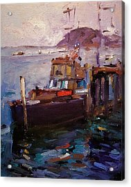 Morning Light In Morro Bay Acrylic Print