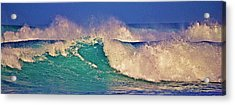 Morning Light On Breaking Waves Acrylic Print