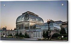Morning Light On The United States Botanic Garden Acrylic Print by Greg Mimbs
