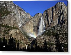 Acrylic Print featuring the photograph Morning Light On Upper Yosemite Falls In Winter by Jetson Nguyen