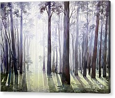Acrylic Print featuring the painting Morning Light by Samiran Sarkar