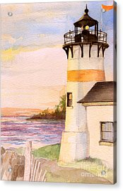 Morning, Lighthouse Acrylic Print