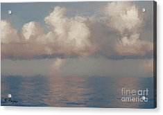 Acrylic Print featuring the painting Morning Lights by Rosario Piazza